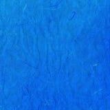 Struttura della carta di riso sgualcita vecchio blu Fotografia Stock