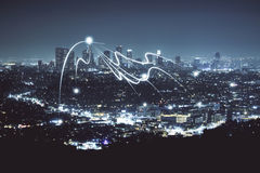 Struttura della città di notte Immagine Stock