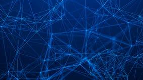 Struttura della connessione di rete Priorit? bassa astratta di tecnologia Priorit? bassa futuristica rappresentazione 3d royalty illustrazione gratis