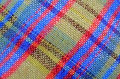 Struttura della coperta tessuta di picnic Fotografie Stock Libere da Diritti