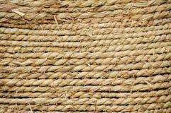Struttura della corda della paglia Fotografia Stock