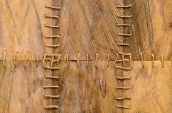Struttura della corteccia della fibra della palma con la corda Fotografie Stock