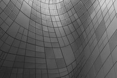 Struttura della facciata curva metallo Fotografie Stock