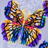 Struttura della farfalla a strisce del tessuto della stampa Fotografia Stock