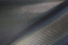Struttura della fibra del carbonio tessuta il nero Immagine Stock