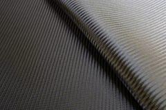 Struttura della fibra del carbonio tessuta il nero Fotografia Stock Libera da Diritti