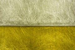 Struttura della fibra dell'argento e dell'oro Immagini Stock