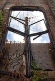 Struttura della finestra bruciata Fotografie Stock