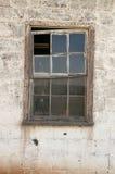 Struttura della finestra della tettoia dell'azienda agricola Fotografia Stock Libera da Diritti
