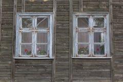 Struttura della finestra di legno bianca Immagine Stock