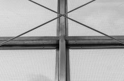 Struttura della finestra industriale d'acciaio Fotografia Stock