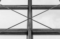 Struttura della finestra industriale d'acciaio Fotografie Stock Libere da Diritti