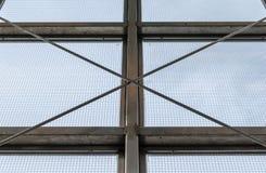 Struttura della finestra industriale d'acciaio Fotografia Stock Libera da Diritti