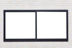 Struttura della finestra nera del metallo Immagine Stock Libera da Diritti