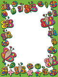 Struttura della foglia del fiore di lumaca dell'ape della farfalla della libellula royalty illustrazione gratis