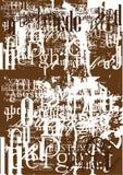 Struttura della fonte tipografica dell'annata Immagini Stock