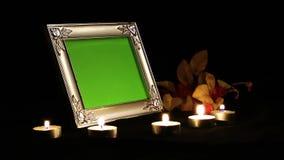 Struttura della foto alla luce della candela video d archivio