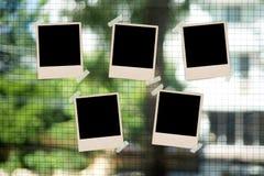 Struttura della foto e di nastro di carta d'annata su fondo confuso Fotografia Stock