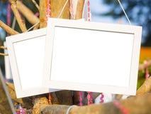 Struttura della foto fatta di legno bianco Fotografia Stock