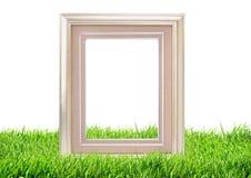 Struttura della foto sul fondo della natura dell'erba verde Immagini Stock Libere da Diritti