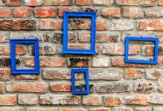 Struttura della foto sul vecchio muro di mattoni rustico Immagine Stock Libera da Diritti