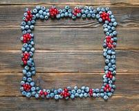 Struttura della frutta dei mirtilli e del ribes rosso Immagini Stock