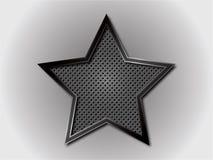 Struttura della griglia con la stella Fotografia Stock