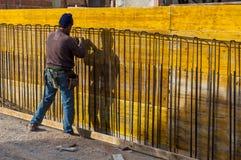 Struttura della lastra di cemento armato del lavoro Immagini Stock