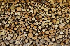 Struttura della legna da ardere di Splitted Immagine Stock