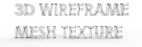 Struttura della maglia di Wireframe Fotografia Stock