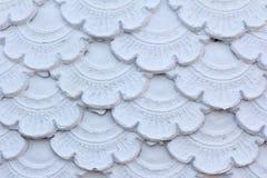 Struttura della parete bianca di colore del modello dello stucco Fotografie Stock