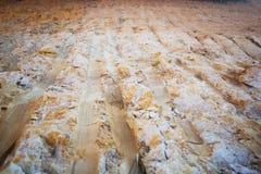 Struttura della parete del suolo dopo essere stato vangata immagine stock