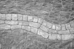 Struttura della parete di pietra in bianco e nero Immagine Stock