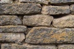 Struttura della parete di pietra dai mattoni di pietra chiuda su fondo fotografie stock