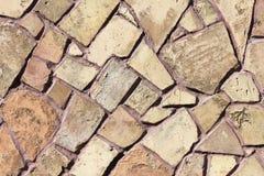Struttura della parete di pietra del mosaico Fotografia Stock