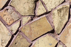 Struttura della parete di pietra del mosaico Immagini Stock