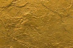 Struttura della parete di pietra dell'oro Fotografia Stock Libera da Diritti