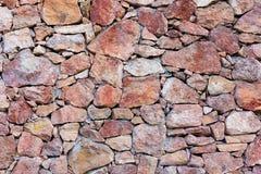Struttura della parete di pietra delle pietre rosse Fotografie Stock Libere da Diritti