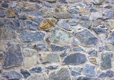 Struttura della parete di pietra Fondo del ciottolo Fortezza antica wal immagini stock libere da diritti