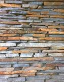 Struttura della parete di pietra Modello del fondo della muratura Vecchio lato Fotografia Stock