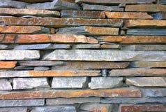 Struttura della parete di pietra Modello del fondo della muratura Vecchio lato Immagine Stock Libera da Diritti