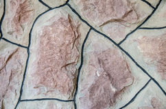 Struttura della parete di pietra naturale Fotografia Stock
