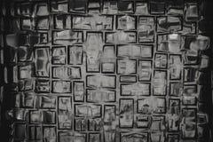 Struttura della parete di vetro in B&W fotografia stock libera da diritti