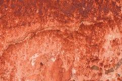 Struttura della parete dipinta con minio Fotografia Stock Libera da Diritti