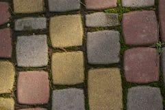struttura della pavimentazione del blocchetto della priorità bassa Fotografie Stock Libere da Diritti