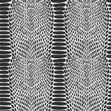 Struttura della pelle di serpente Il nero senza cuciture del modello su fondo bianco Immagine Stock Libera da Diritti