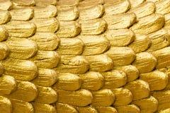 Struttura della pelle dorata del drago Fotografia Stock Libera da Diritti