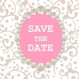 Struttura della perla Retro scheda di disegno Modello per la cartolina d'auguri, invito, Brouhure, aletta di filatoio, nozze Salv royalty illustrazione gratis