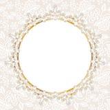 Struttura della perla sul fondo bianco del pizzo Fotografia Stock
