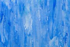 Struttura della pittura ad olio, fondo blu astratto fotografia stock